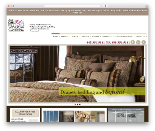 Klasik WordPress theme - rocklandwindowcovering.com