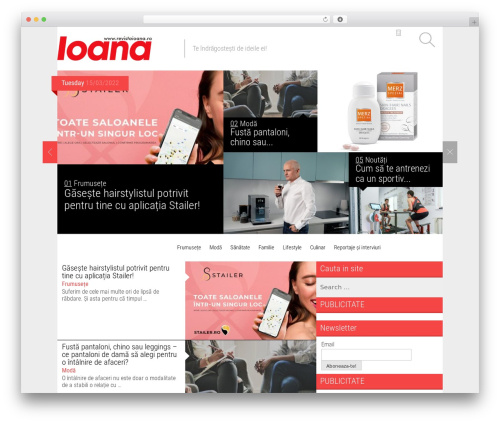 Magazine WordPress template - revistaioana.ro