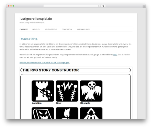 Theme WordPress Twenty Twelve - rollenspielcomics.de