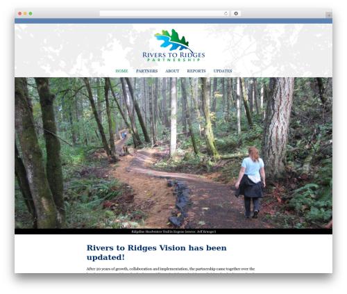 Twenty Thirteen free WP theme - rivers2ridges.org