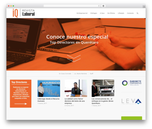 WordPress template Enfold - revistaiqlaboral.com