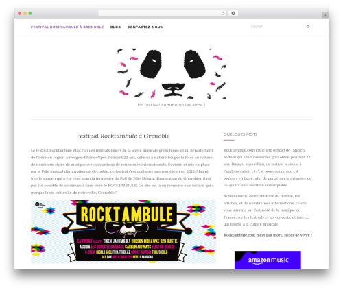WordPress theme Activello - rocktambule.com