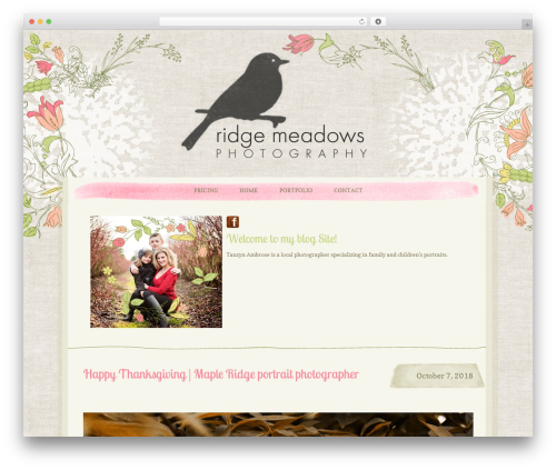 WordPress theme ProPhoto - ridgemeadowsphotography.com