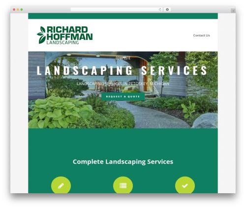Bridge best WordPress theme - richardhoffmanlandscaping.com