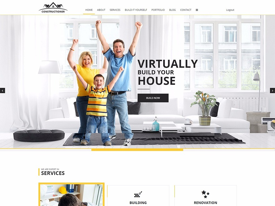 Constructioner WordPress theme