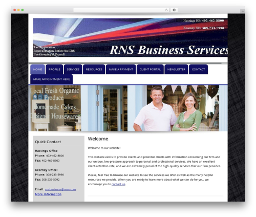 Customized WP theme - rnsbusiness.com