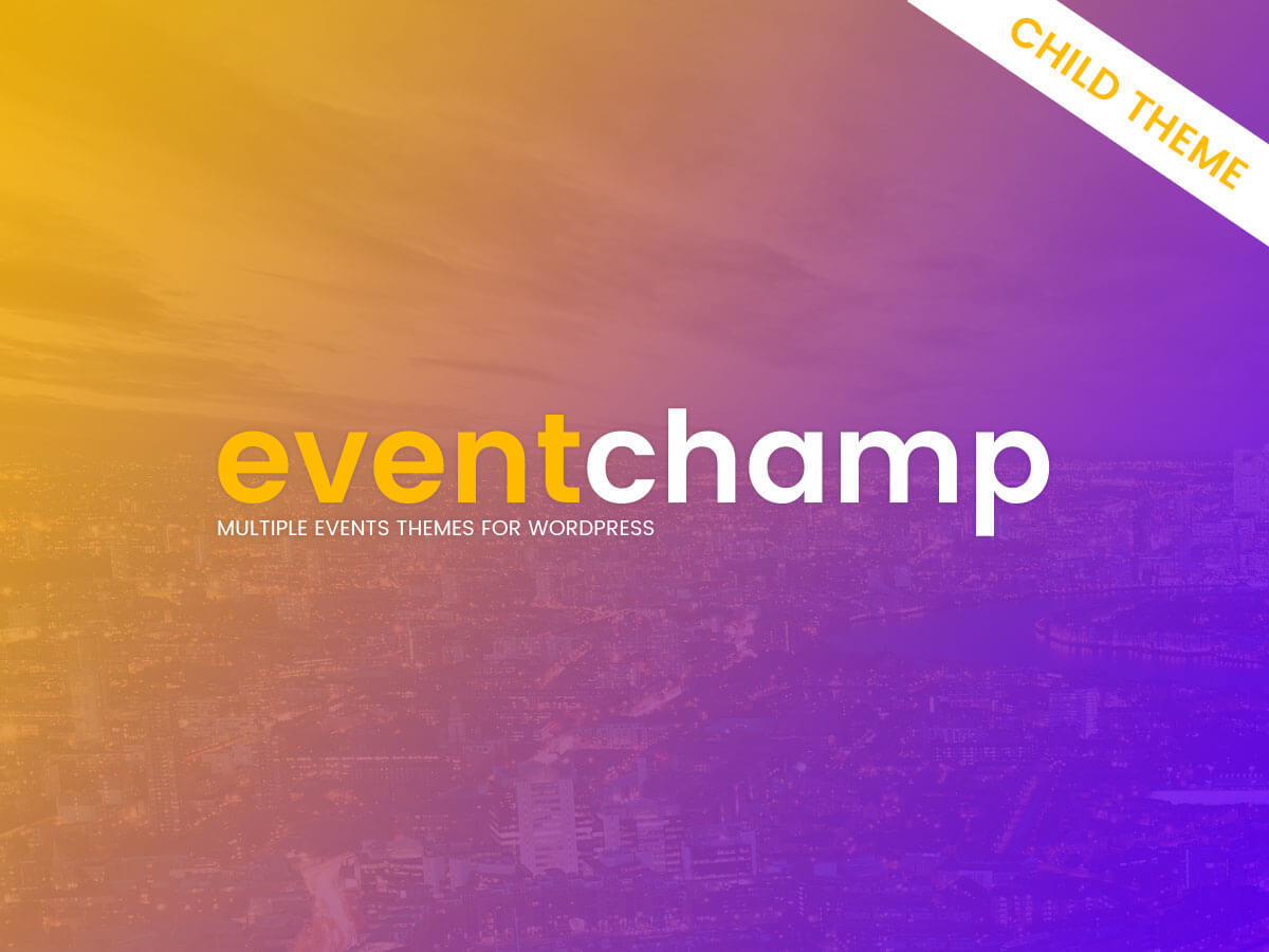 Eventchamp Child Theme best WordPress template