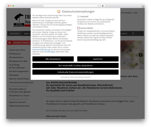 GeneratePress WordPress theme - rossfleischversand.de