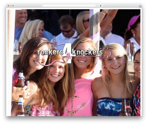 Rockers 4 Knockers WordPress template - rockers4knockers.com