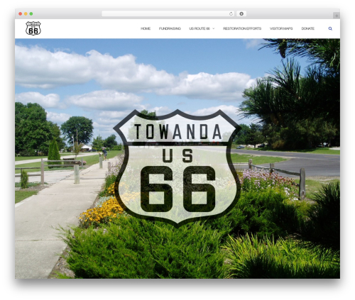 Shapely free WordPress theme - route66towanda.org