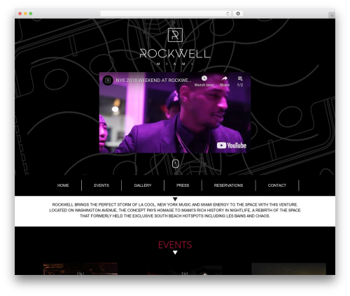 The7 WordPress theme - rockwellmiami.com