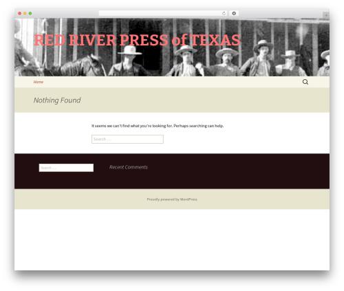 Twenty Thirteen WordPress template free - redriverpressoftexas.com