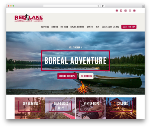 WP theme X - redlakeoutfitters.com