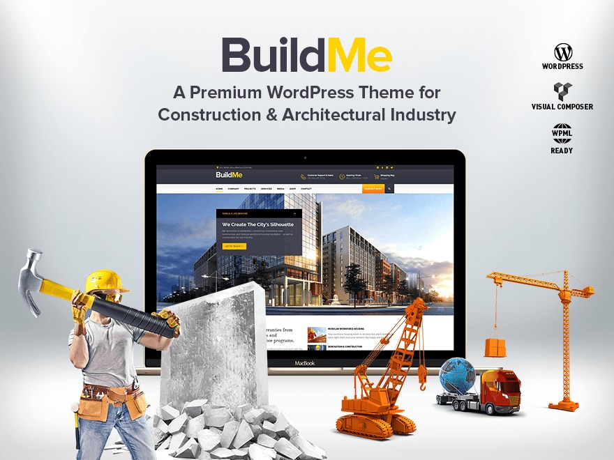 BuildMe (Share On Theme123.Net) business WordPress theme