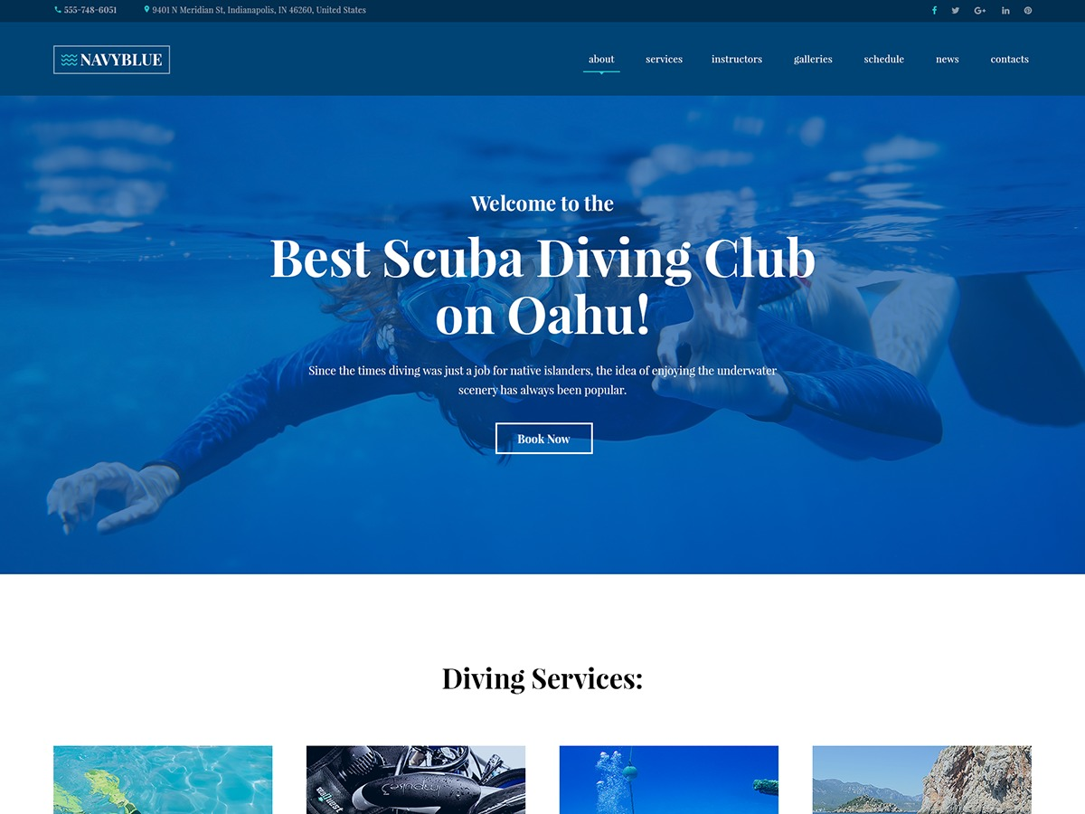 NavyBlue WP theme