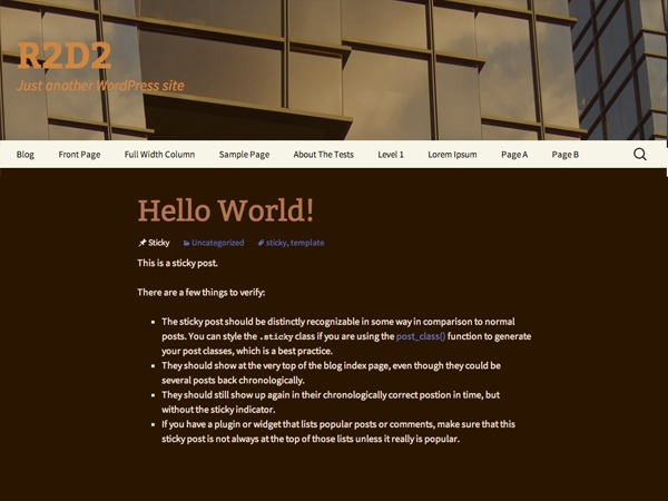 r2d2 WordPress blog theme