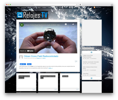 WooTube WordPress blog template - relojes.tv