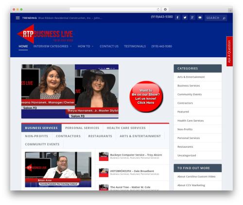 WordPress theme Extra - rtpbusinesslive.com