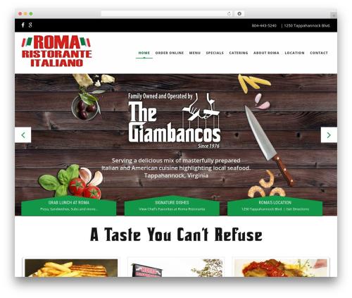 WP Nuvo food WordPress theme - romatapp.com