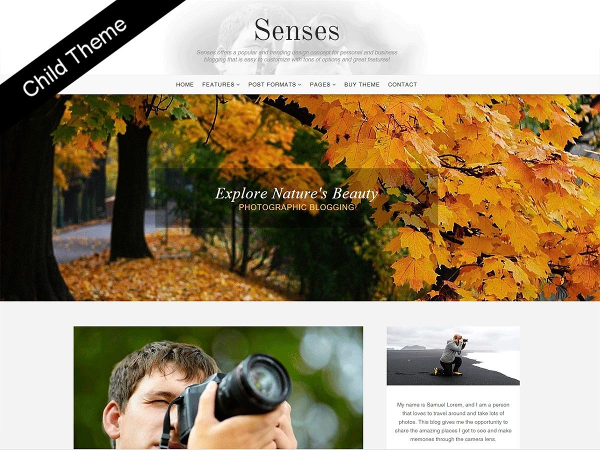 WP theme Senses Child