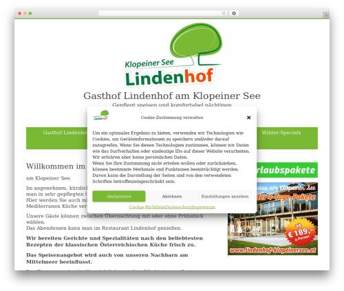 Free WordPress Feature A Page Widget plugin - restaurant-lindenhof.at