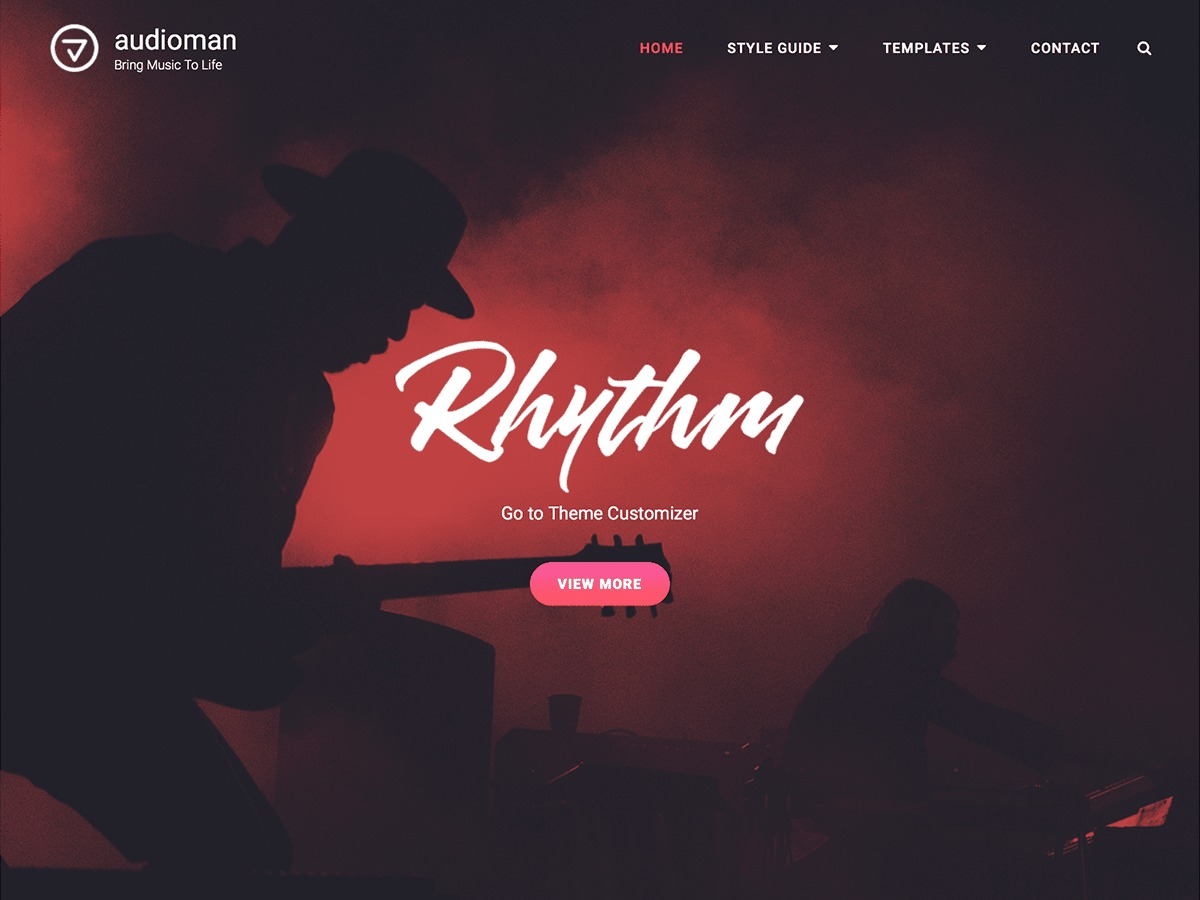 Audioman WordPress portfolio theme