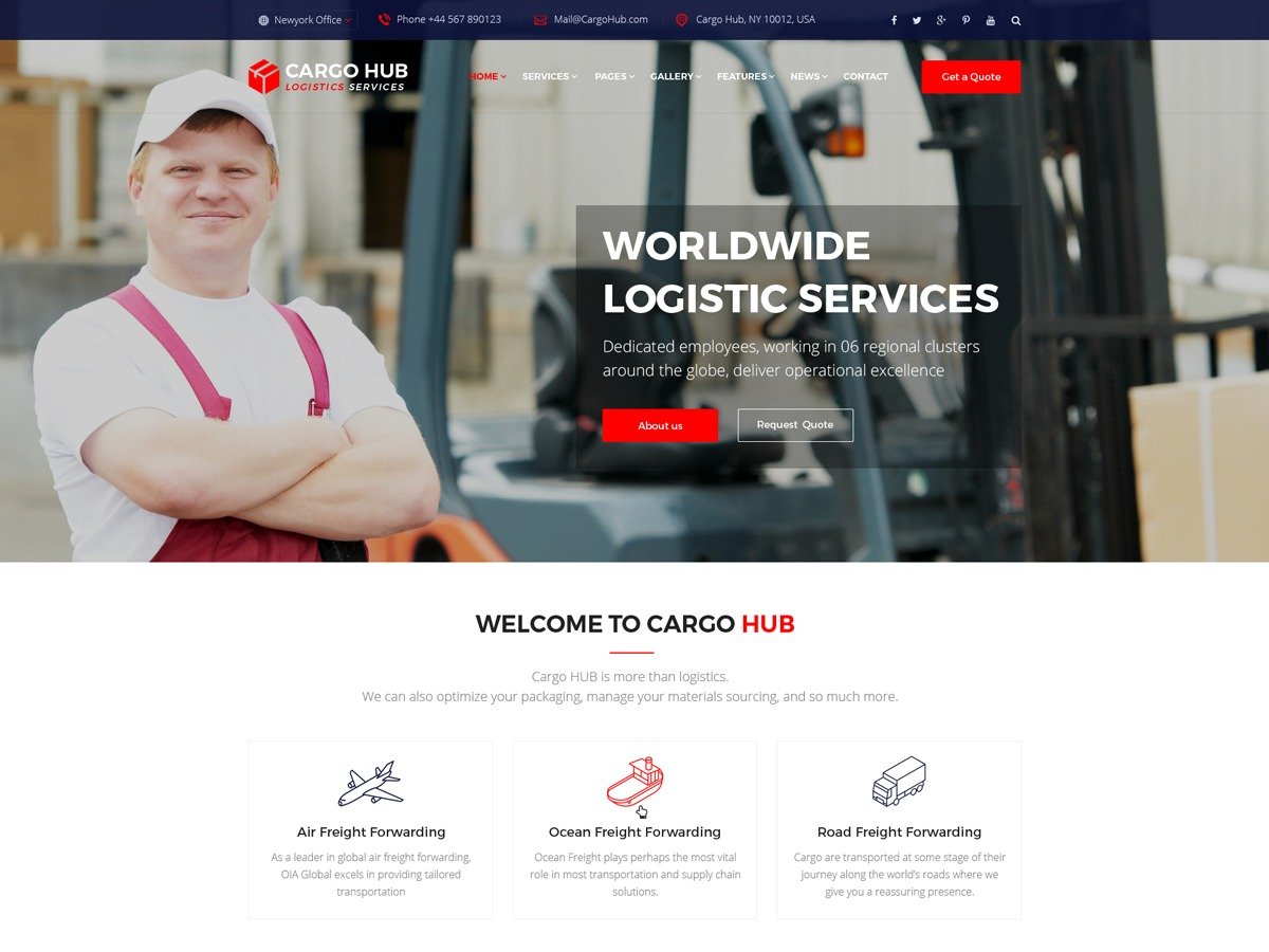 CargoHub business WordPress theme