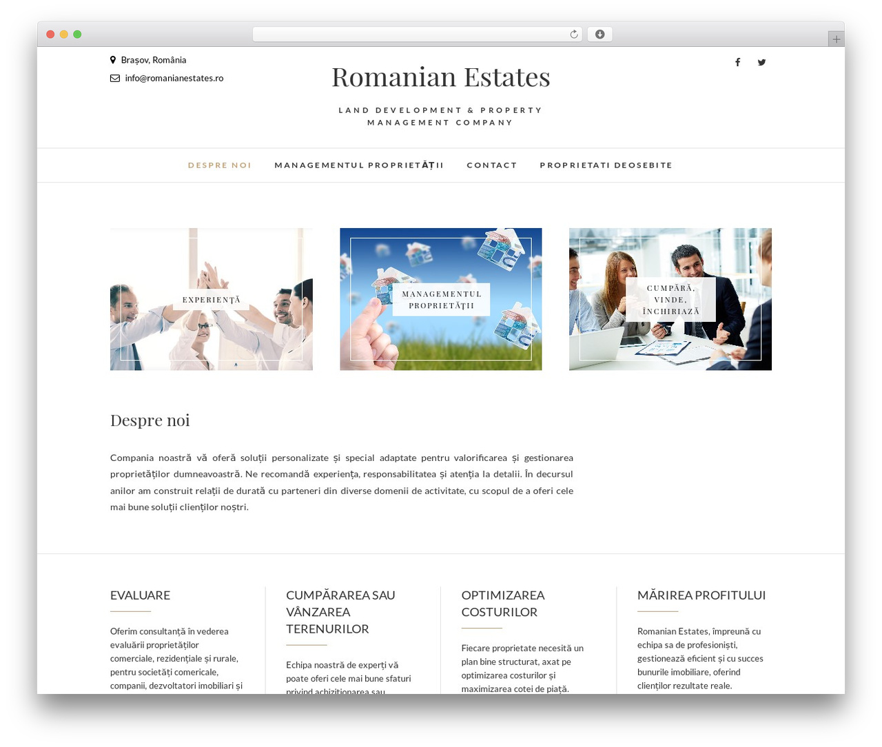 Edge best free WordPress theme - romanianestates.ro