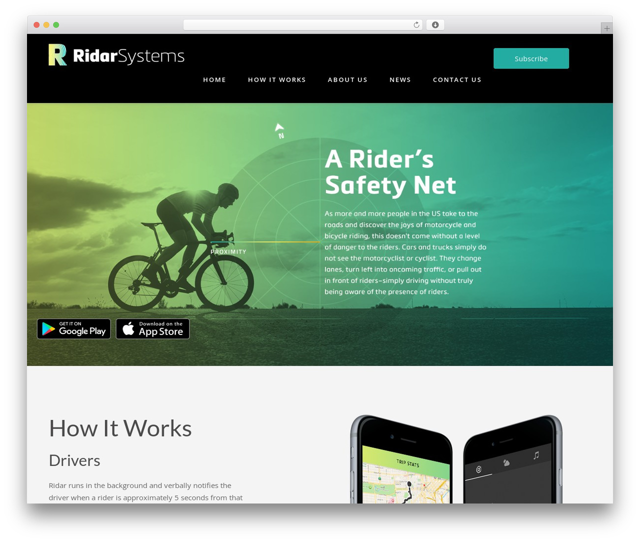 Fusion top WordPress theme - ridarsystems.com