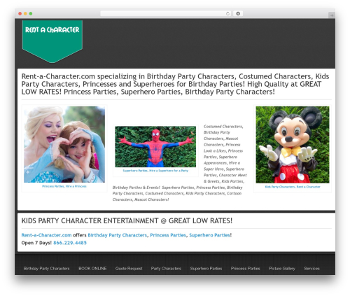Gantry Theme for WordPress WP theme - rent-a-character.com