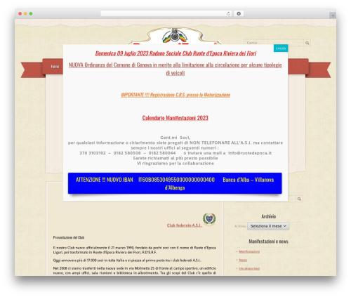 RetroPress WordPress theme - ruotedepocarivieradeifiori.it