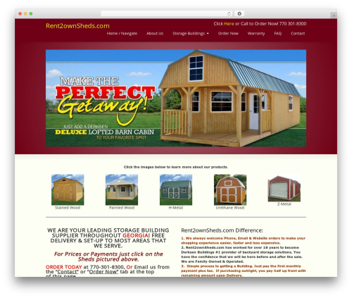 Striking MultiFlex & Ecommerce Responsive WordPress Theme WordPress ecommerce template - rent2ownsheds.com