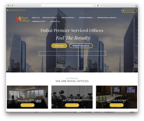 TheBuilt company WordPress theme - royaloffices.com