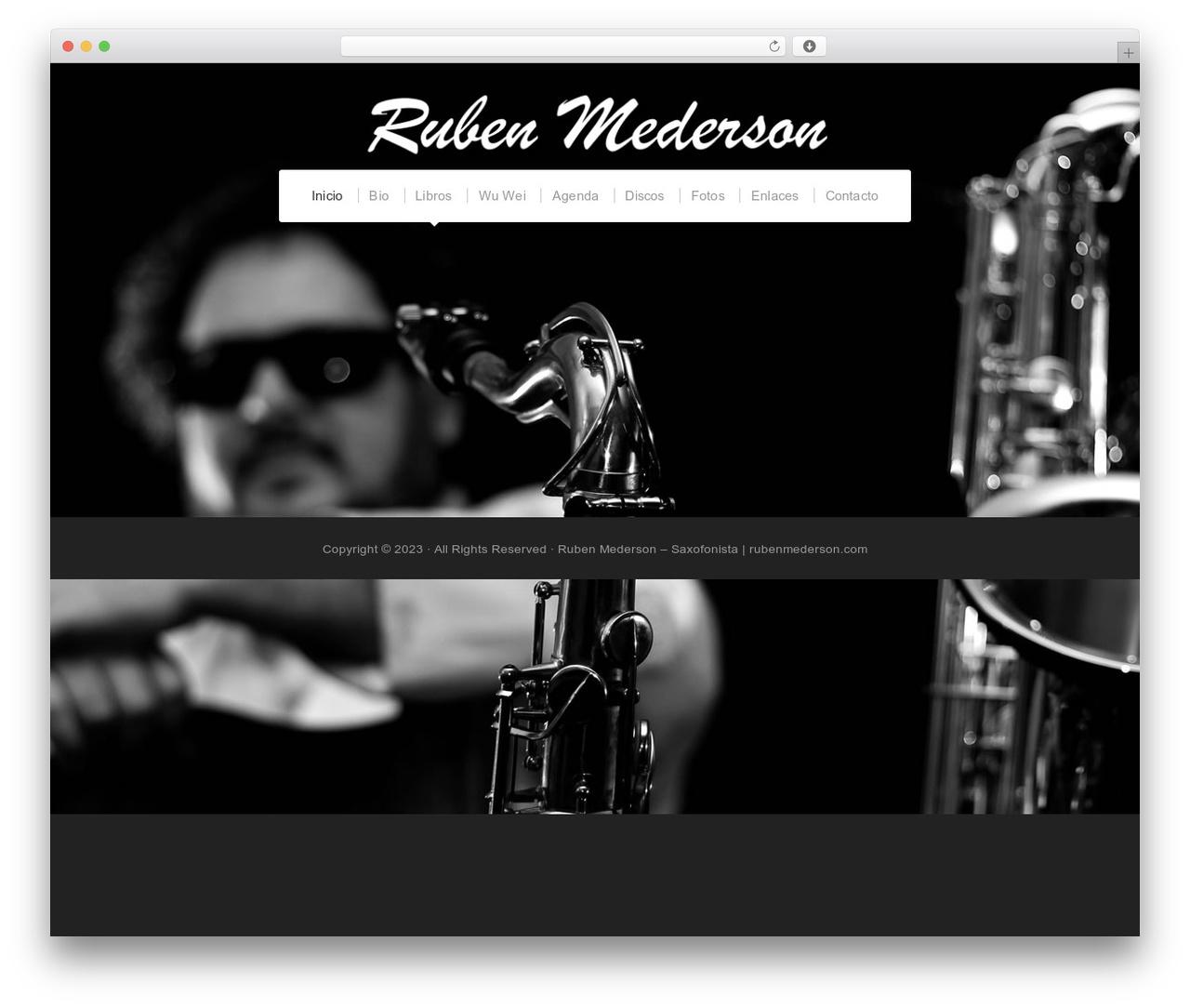 WordPress theme Organic Profile - rubenmederson.com