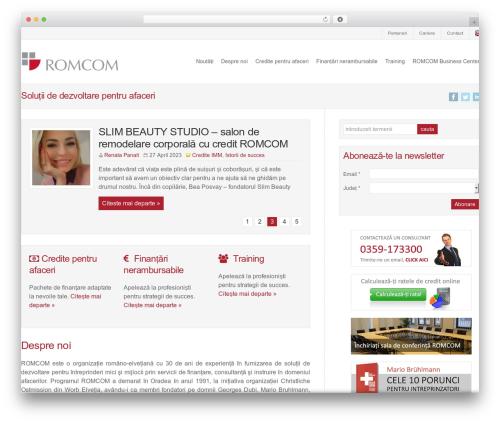 WordPress theme WP-Brilliance - romcom.ro