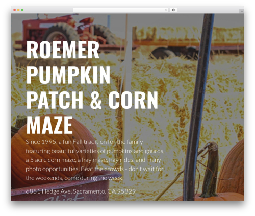 WordPress website template Primer - roemerpumpkinpatch.com