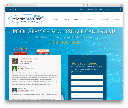 Best WordPress theme The Core Parent - reliablepoolcare.net