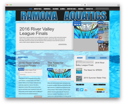 Delicate News WordPress news theme - ramonaaquatics.net