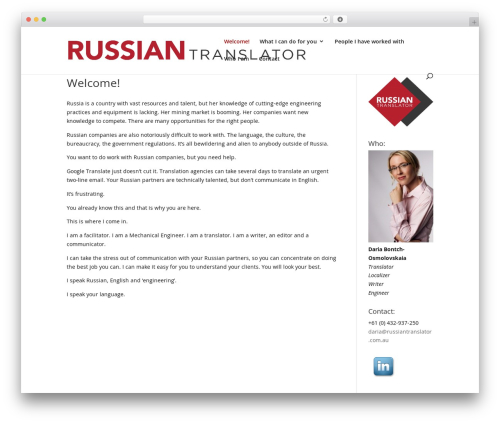 Divi WP template - russiantranslator.com.au