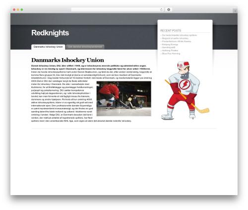 Fusion WordPress theme - redknights.dk