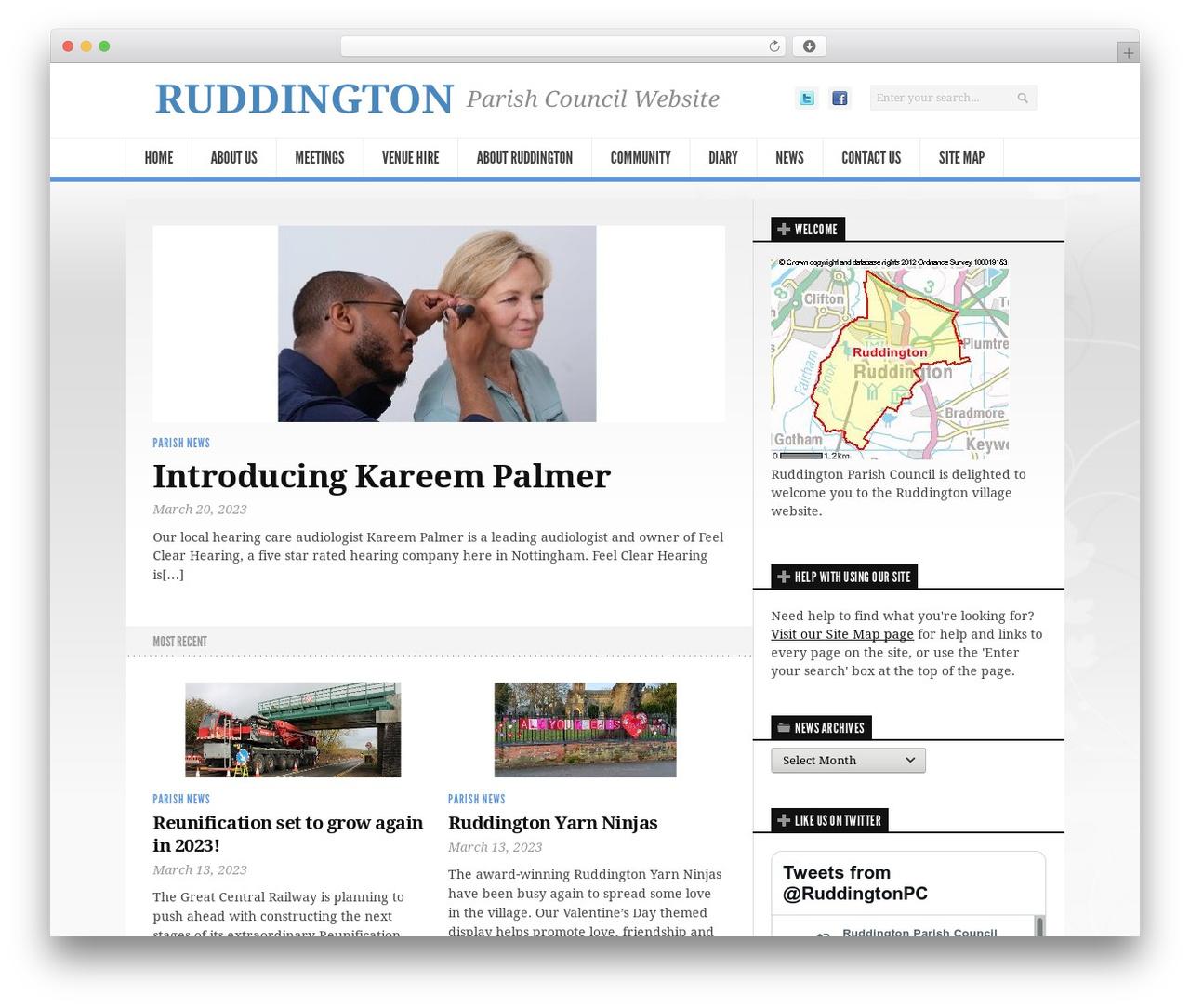 Newsroom premium WordPress theme - ruddingtonparishcouncil.gov.uk