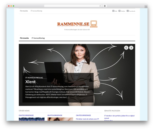 OriginMag WordPress website template - ramminne.se