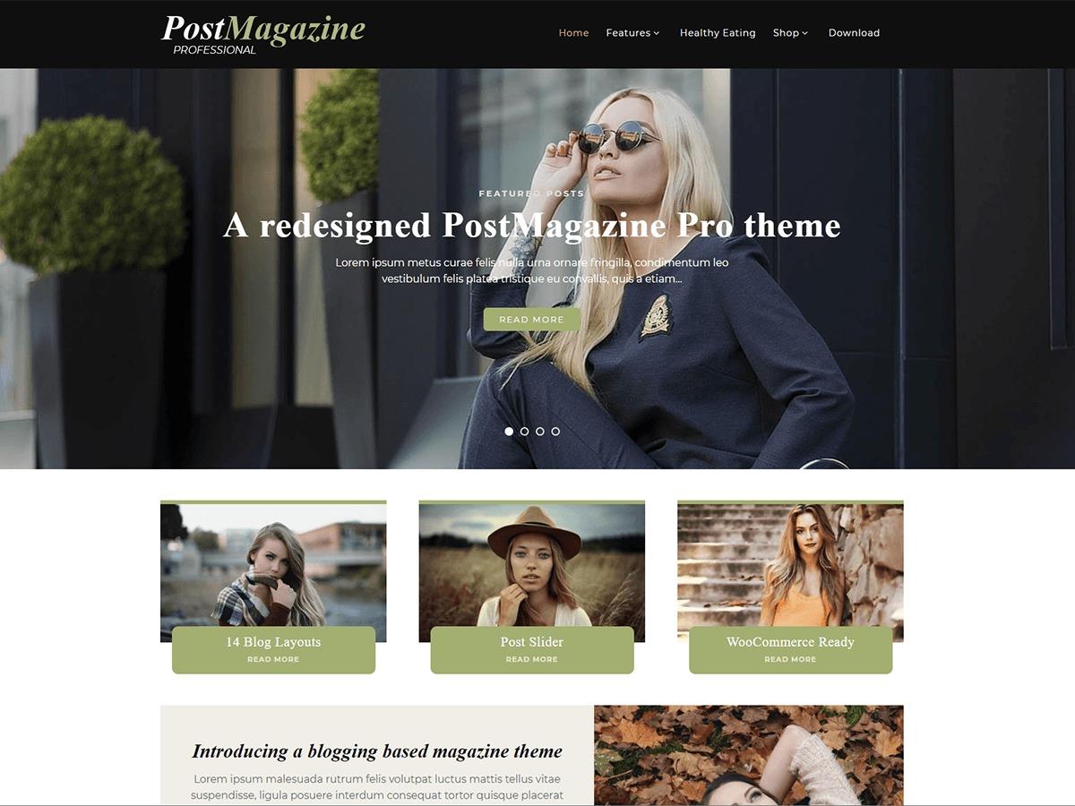 PostMagazine Pro WordPress news theme