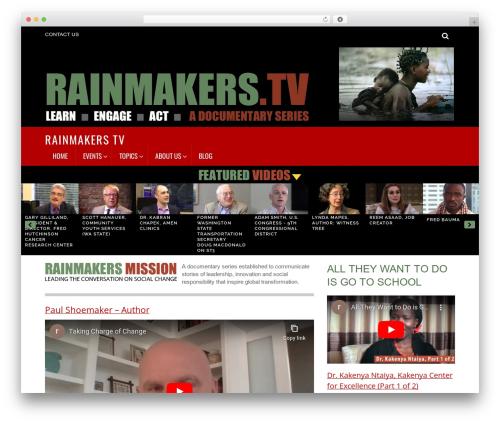 Themify Magazine WordPress news template - rainmakers.tv