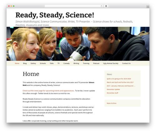 WordPress website template Twenty Thirteen - readysteadyscience.com