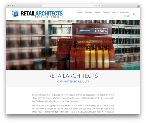 WP template The7 - retailarchitects.nl