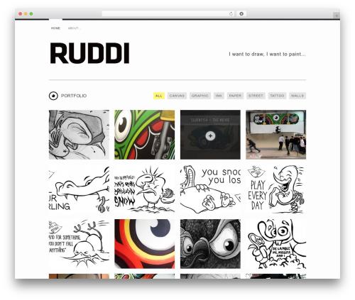 Yin and Yang WordPress page template - ruddi.dk