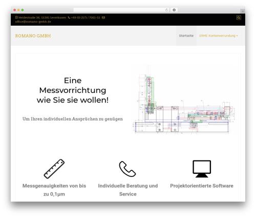 Best WordPress template Di Responsive - romano-leverkusen.de