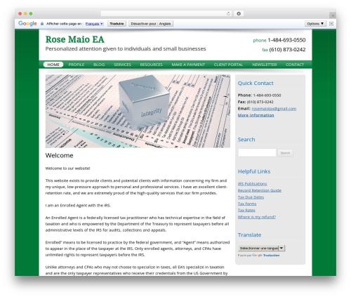 Customized WordPress theme - rosemaio.com