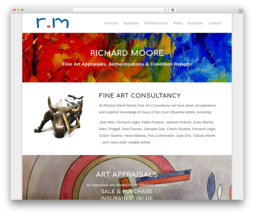 Divi WordPress theme design - rm-artreview.com